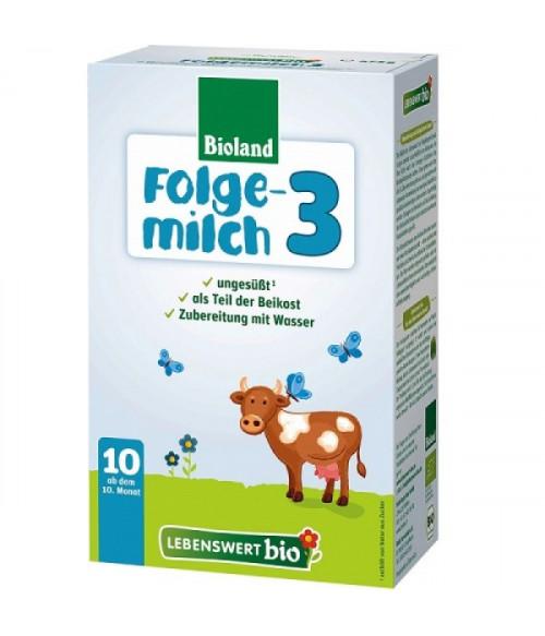 Lebenswert Stage 3 Organic (Bio) Baby Milk Formula With DHA (475g) 10m+ (12 boxes)